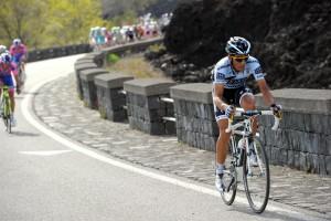 ALBERTO CONTADOR ATTACKS ON STAGE NINE OF THE 2011 GIRO D'ITALIA